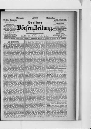 Berliner Börsen-Zeitung vom 25.04.1891