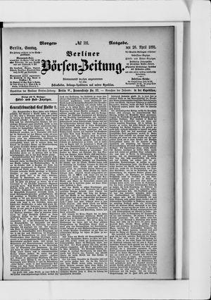 Berliner Börsen-Zeitung vom 26.04.1891