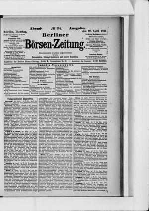 Berliner Börsen-Zeitung on Apr 28, 1891