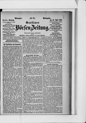 Berliner Börsen-Zeitung vom 29.04.1891