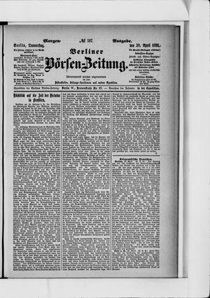 Berliner Börsen-Zeitung vom 30.04.1891
