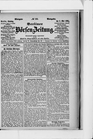 Berliner Börsen-Zeitung vom 03.05.1891