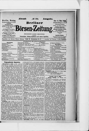 Berliner Börsen-Zeitung vom 04.05.1891