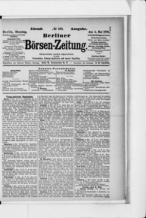 Berliner Börsen-Zeitung on May 5, 1891