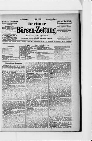 Berliner Börsen-Zeitung vom 06.05.1891