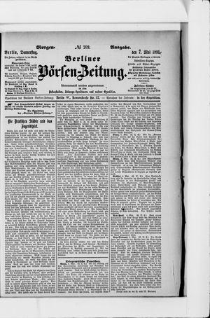 Berliner Börsen-Zeitung on May 7, 1891