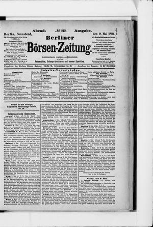 Berliner Börsen-Zeitung vom 09.05.1891
