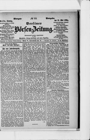 Berliner Börsen-Zeitung vom 10.05.1891