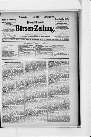 Berliner Börsen-Zeitung vom 12.05.1891