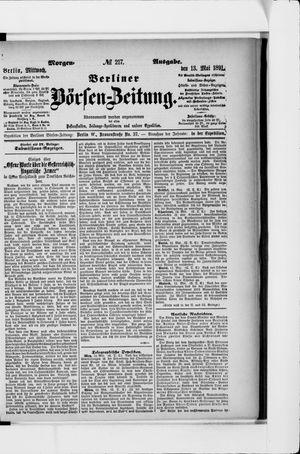 Berliner Börsen-Zeitung vom 13.05.1891