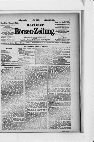 Berliner Börsen-Zeitung vom 14.05.1891