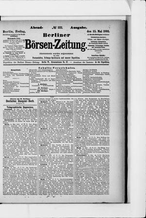 Berliner Börsen-Zeitung vom 15.05.1891