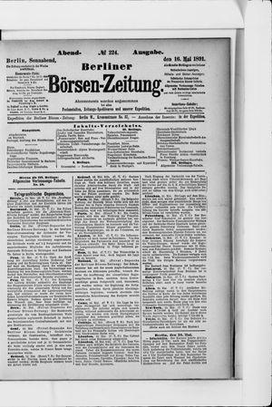 Berliner Börsen-Zeitung vom 16.05.1891
