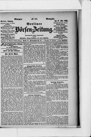 Berliner Börsen-Zeitung vom 17.05.1891