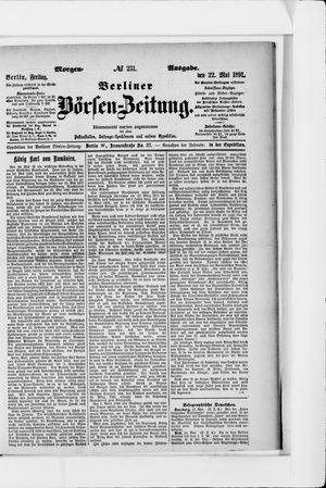 Berliner Börsen-Zeitung vom 22.05.1891