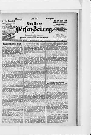 Berliner Börsen-Zeitung vom 23.05.1891