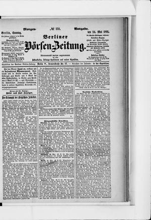 Berliner Börsen-Zeitung vom 24.05.1891
