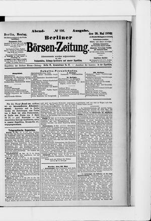 Berliner Börsen-Zeitung vom 25.05.1891