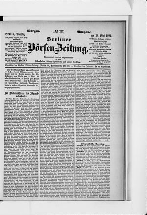 Berliner Börsen-Zeitung vom 26.05.1891