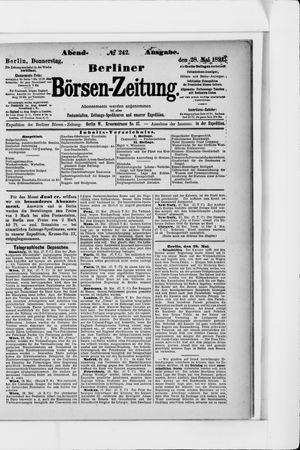Berliner Börsen-Zeitung vom 28.05.1891