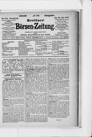 Berliner Börsen-Zeitung on May 30, 1891