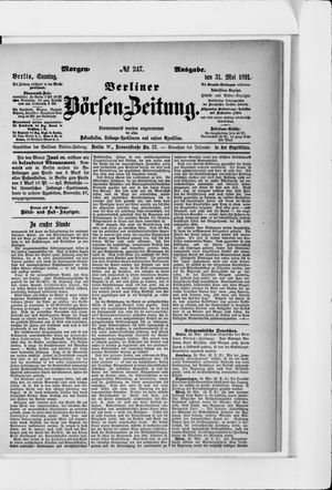 Berliner Börsen-Zeitung vom 31.05.1891