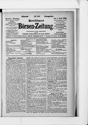 Berliner Börsen-Zeitung vom 02.06.1891