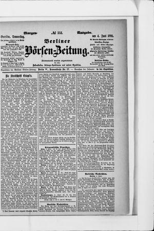Berliner Börsen-Zeitung vom 04.06.1891