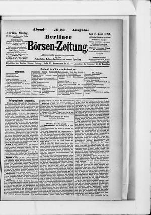 Berliner Börsen-Zeitung vom 08.06.1891