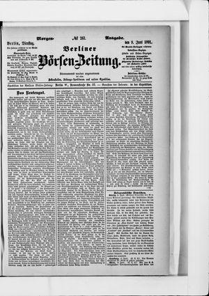 Berliner Börsen-Zeitung vom 09.06.1891