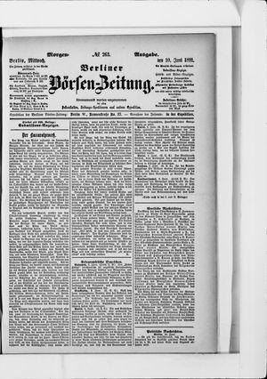 Berliner Börsen-Zeitung vom 10.06.1891