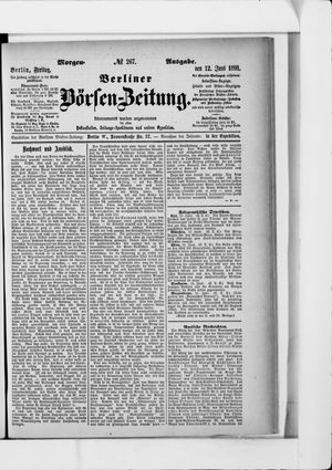 Berliner Börsen-Zeitung vom 12.06.1891
