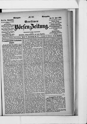 Berliner Börsen-Zeitung on Jun 13, 1891
