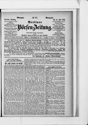 Berliner Börsen-Zeitung vom 14.06.1891