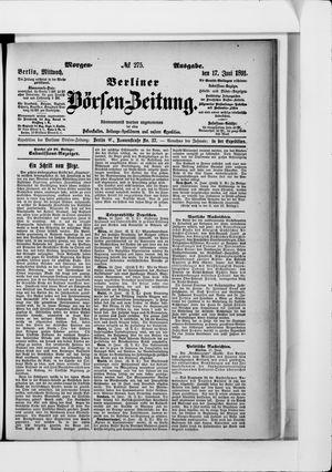 Berliner Börsen-Zeitung vom 17.06.1891