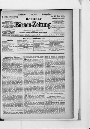 Berliner Börsen-Zeitung vom 18.06.1891
