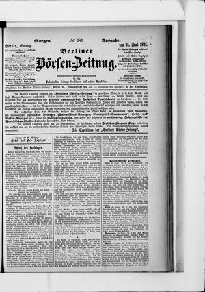 Berliner Börsen-Zeitung vom 21.06.1891