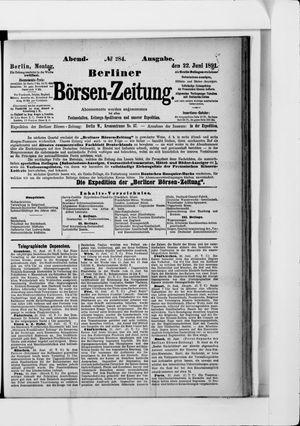 Berliner Börsen-Zeitung vom 22.06.1891