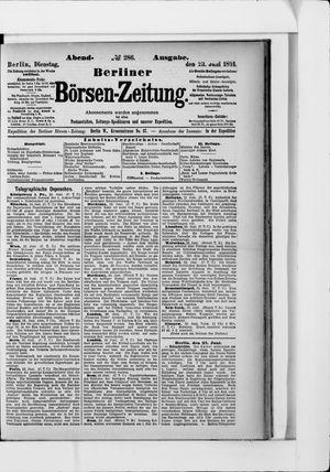 Berliner Börsen-Zeitung vom 23.06.1891