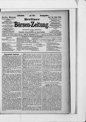 Berliner Börsen-Zeitung vom 24.06.1891