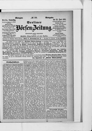 Berliner Börsen-Zeitung vom 25.06.1891