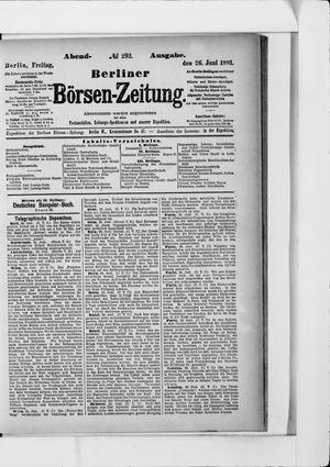 Berliner Börsen-Zeitung vom 26.06.1891