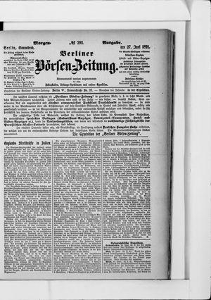 Berliner Börsen-Zeitung on Jun 27, 1891