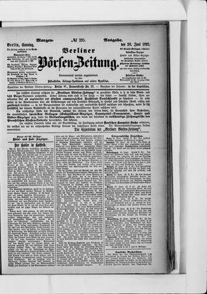 Berliner Börsen-Zeitung vom 28.06.1891