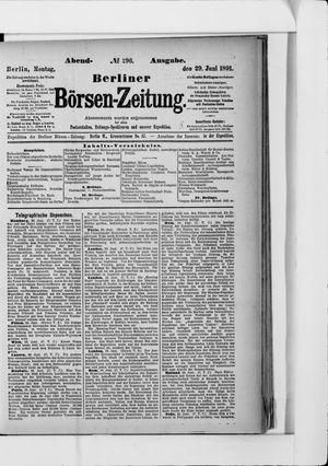 Berliner Börsen-Zeitung vom 29.06.1891