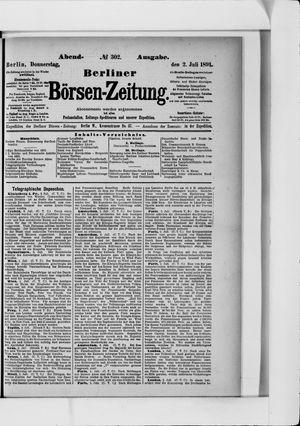 Berliner Börsen-Zeitung vom 02.07.1891