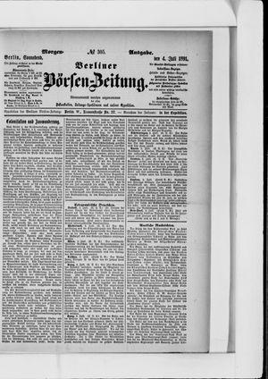 Berliner Börsen-Zeitung vom 04.07.1891