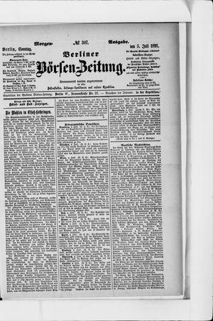 Berliner Börsen-Zeitung on Jul 5, 1891