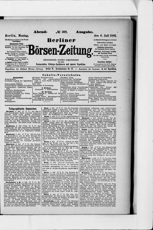 Berliner Börsen-Zeitung vom 06.07.1891