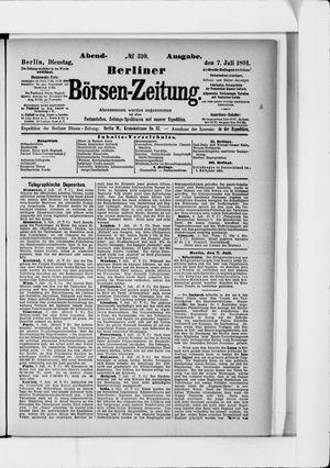 Berliner Börsen-Zeitung vom 07.07.1891